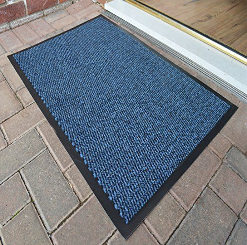 From 8.90  Large Heavy Duty Non Slip Entrance Barrier Mat Machine Washable Different Colours Rugs Indoor/outdoor Carpet Runner (60 Cm X 90 Cm) (blue Black)