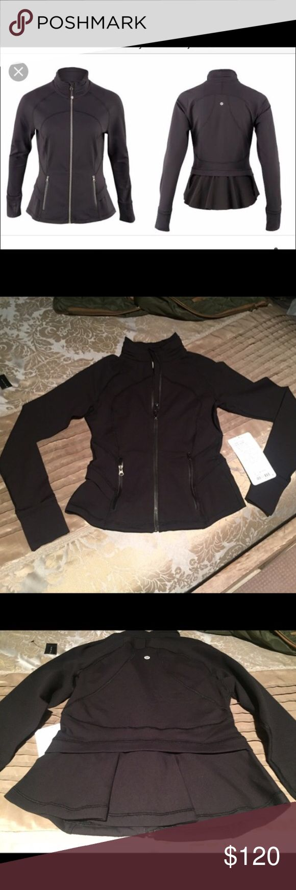 Black Hustle in Your Bustle, 4 Black EUC Perfect black size 4 Hustle in Your Bustle. Found on Posh, purchased (listed as NWOT) for a sporting event and decided to wear a Define instead. Rip tag removed but otherwise looks new. Size dot in pocket. Already taking a loss, price firm. Will trade for size 4 Define jacket in EU/barely worn condition...heathered, fushia teeny tooth, cyber jungle, wee stripe picque, etc. Or Dance Studio Jacket in Bruised Berry, Tender Violet, Magenta color, maybe…