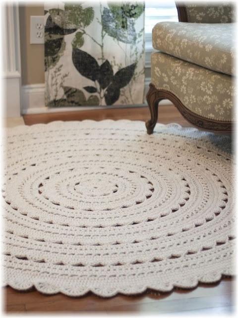 """Custom made 60"""" 150cm Sara doily rug"""