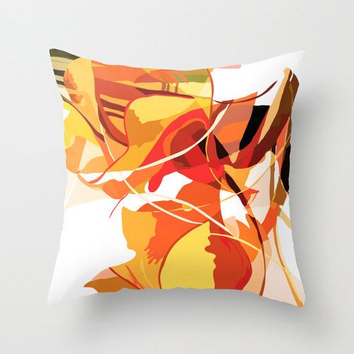 Orange Pillow Cover 18x18 inch - Decorative Pillow Cover, Throw Pillow Covers 18 x 18, Modern Pillow Cover, Indoor or Outdoor #etsy  #gifts