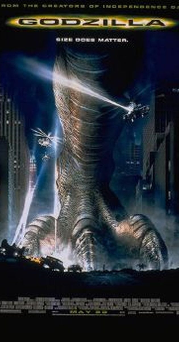 Directed by Roland Emmerich.  With Matthew Broderick, Jean Reno, Maria Pitillo, Hank Azaria. An enormous, radioactively mutated lizard runs rampant in Manhattan.