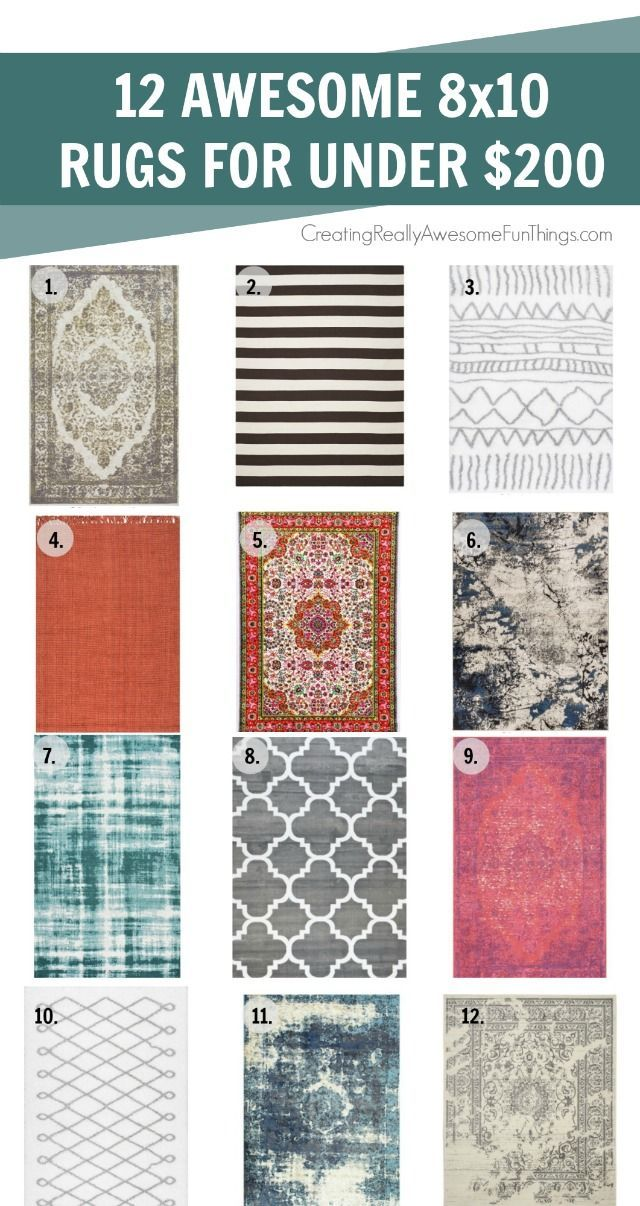 12 modern big, cheap rugs all under $200!