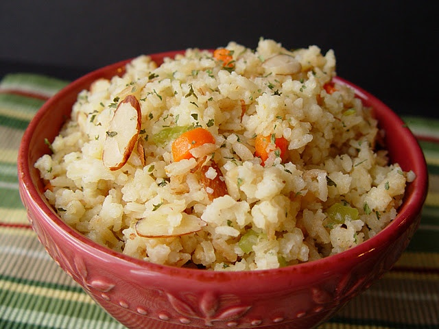 rice pilaf with almonds | Recipe ~ Sides | Pinterest