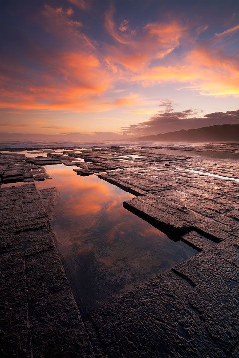 Seascape sunset image in the Dwesa Nature Reserve on South Africa's Wild Coast.