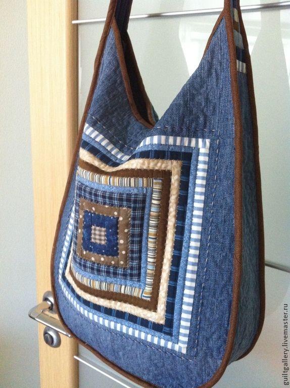 """Купить ,, Сувенир """" лоскутная сумка. - синий, абстрактный, оригинальная сумка…"""