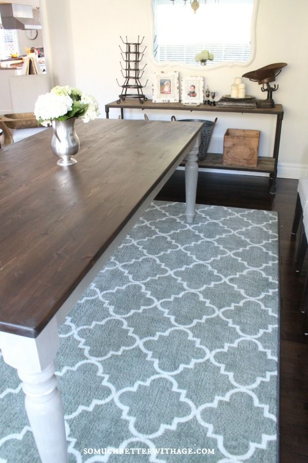 17 Best images about Dining room – Dining Room Rugs
