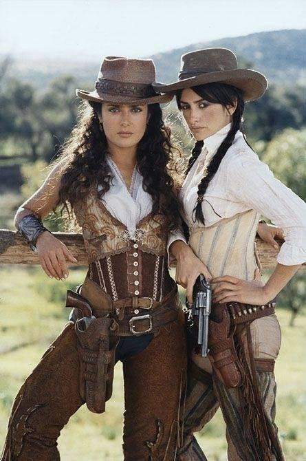Salma Hayek, Penélope Cruz - Bandidas (2006) uniform styles bar staff