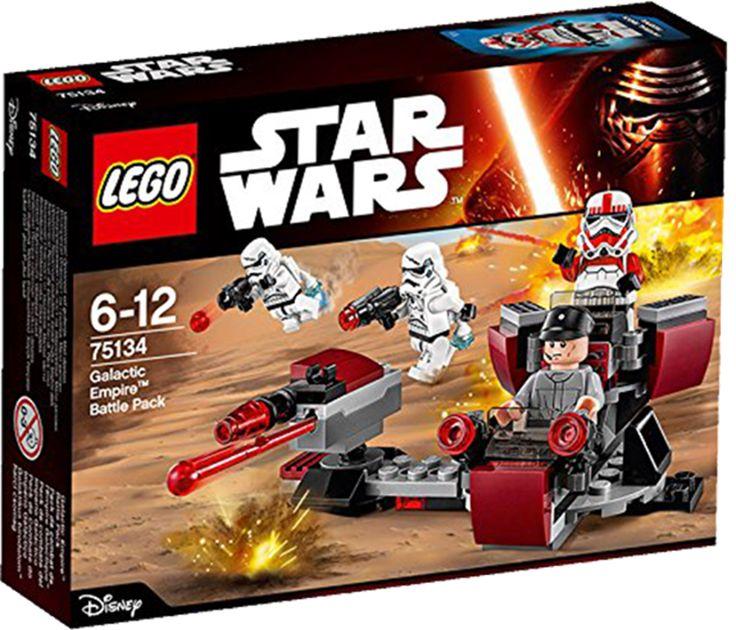 LEGO STAR WARS 75134 Galactic Empire Battle Pack Oprørerne er blevet set i det fjerne. Hop op i kontrolpulten, og find deres nøjagtige position, lad dobbeltskyderen og blasterne, og åbn ild! Med din hjælp skal Imperiets stødtroopere nok sende de oprørere på flugt!