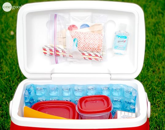 Camping or road-tripping this holiday weekend? Check out these great ideas for packing your cooler that will keep it clean, organized, and your food COLD!