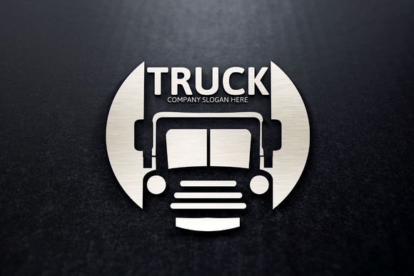 Truck Transport Logo by josuf on Creative Market