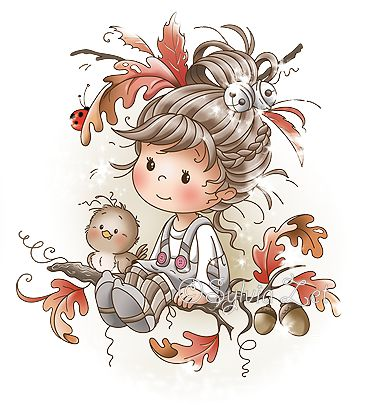 Artiste : Sylvia Zet #automne #fillette