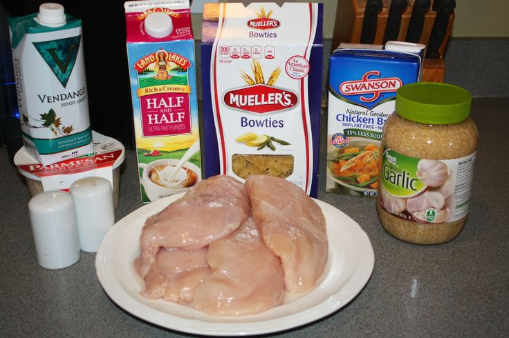 Bowtie Chicken Alfredo Recipe