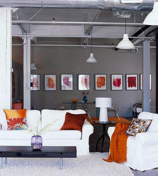 Urban Comfort with orange accents