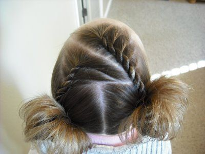 French twist pigtails