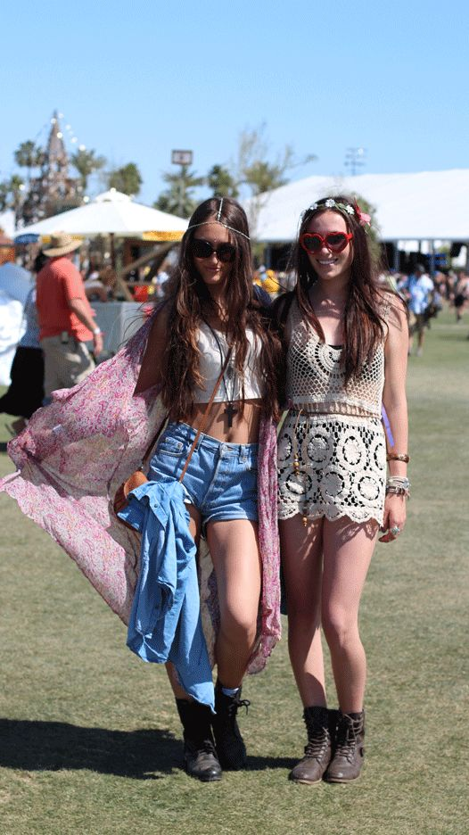 music festival fashion - hippie coachella - i have the same white crocheted tunic but in poppy red!