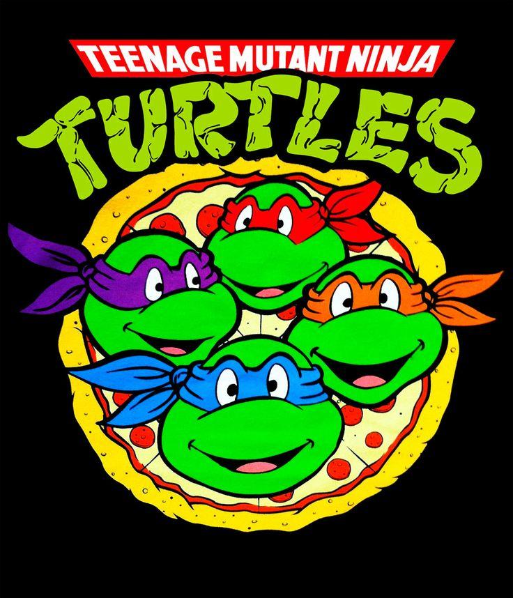 Camiseta chica Tortugas Ninja. Turtle pizza