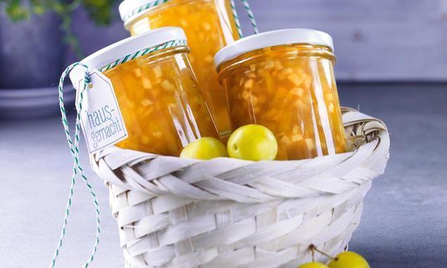Apfel-Mirabellen-Konfitüre mit Cidre                              -                                  Eine prickelnde Kostbarkeit