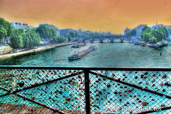 Puente de las Artes París. Fotografia por Realzamostusfotos en Etsy