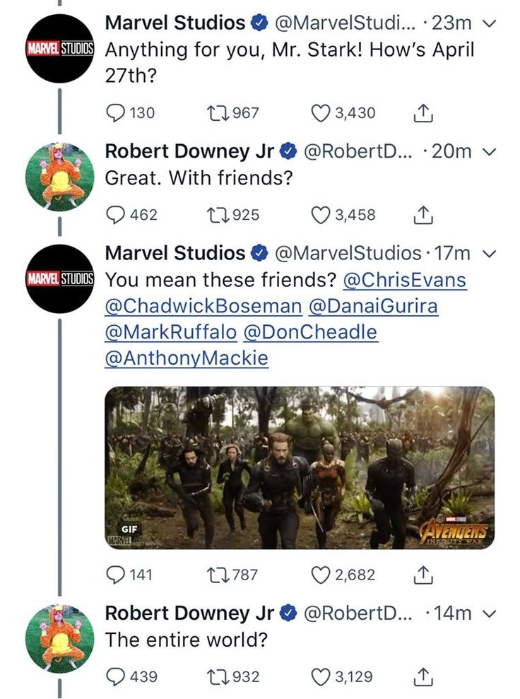 Marvel Studios || Robert Downey Jr. || THANK YOU SO MUCH MR. STARK