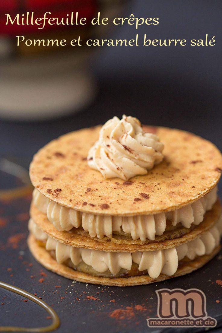 Millefeuille de crêpes pomme et caramel beurre salé - recette pour le Salon International de l'Agriculture 2016 - Macaronette et cie