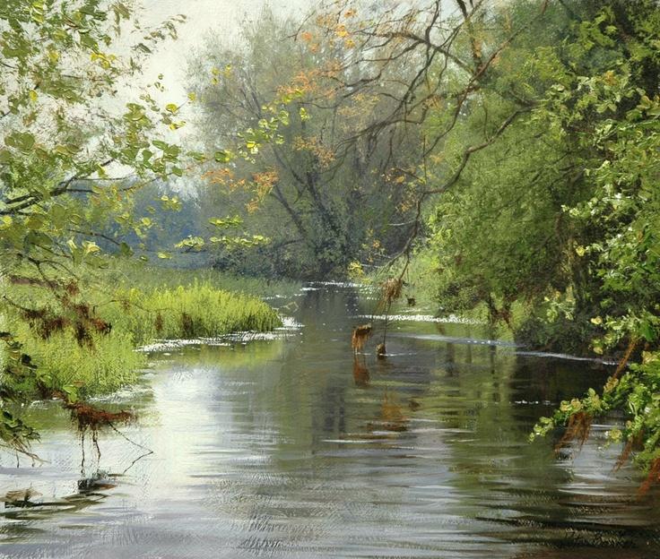 Spring Reflections, Barroden  oil    - Peter Barker