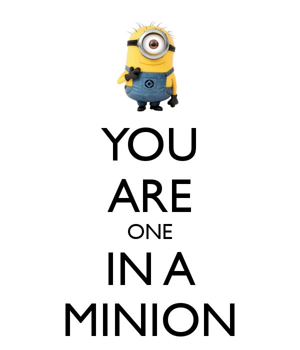 YOU ARE ONE IN A MINION - KEEP CALM AND CARRY ON Image Generator