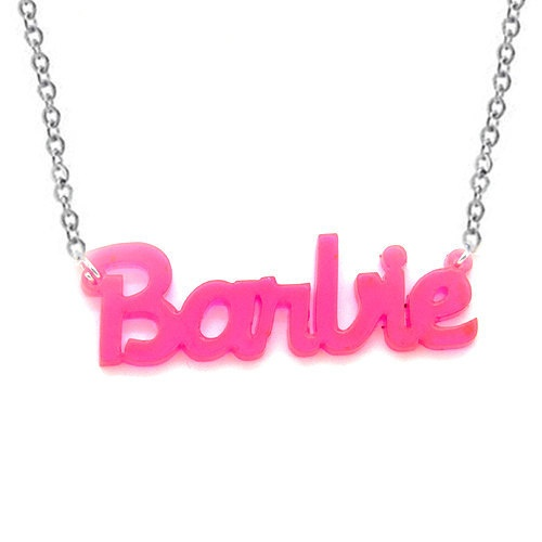Custom Made Acylic Name OR Word Necklace by madetoinspire on Etsy, $20.00