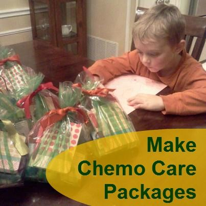 "Pennies of Time: ""Penny of Time"" Adventure: Making Chemo Care Packages.  The boys put together 6 packages to give to those going through chemotherapy.  We'll be taking the packages to a local oncology office.  Teach children to serve."