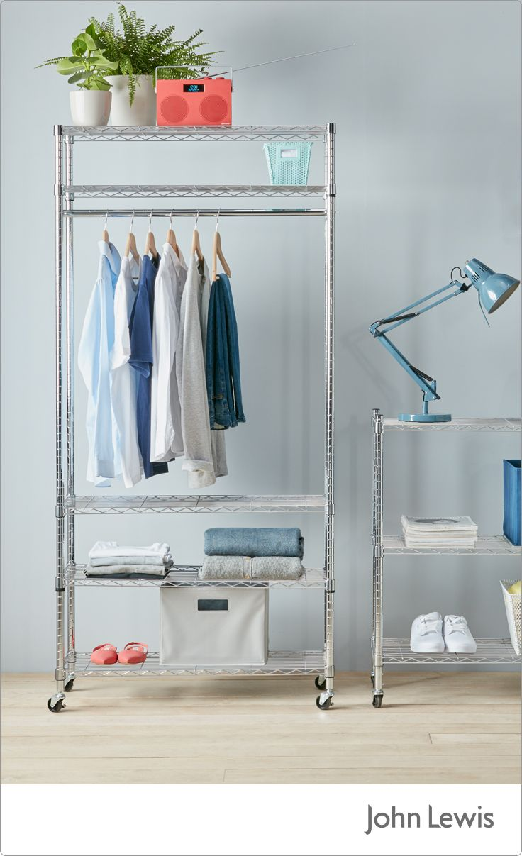 Achieve a clutter-free space with our smart storage solutions. Discover storage innovation to organise possessions in every room of your home; from perspex boxes to minimalist rails. Whatever the size of your space, we have everything you need to keep your home neat and tidy. Order before 8pm for next day click and collect.