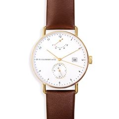 Atticus in Gold with Chestnut Brown Strap (Preorder)