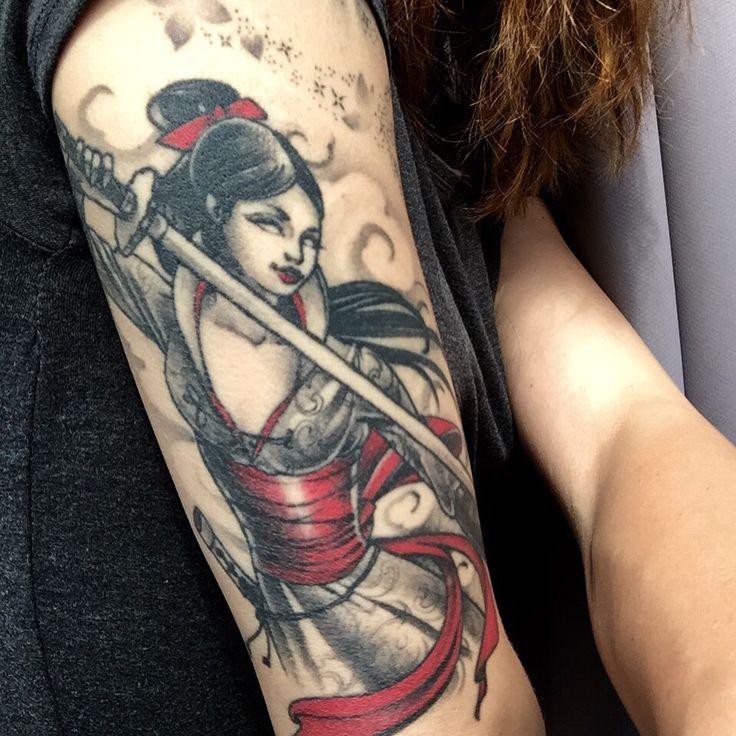 Asian girl tattoo