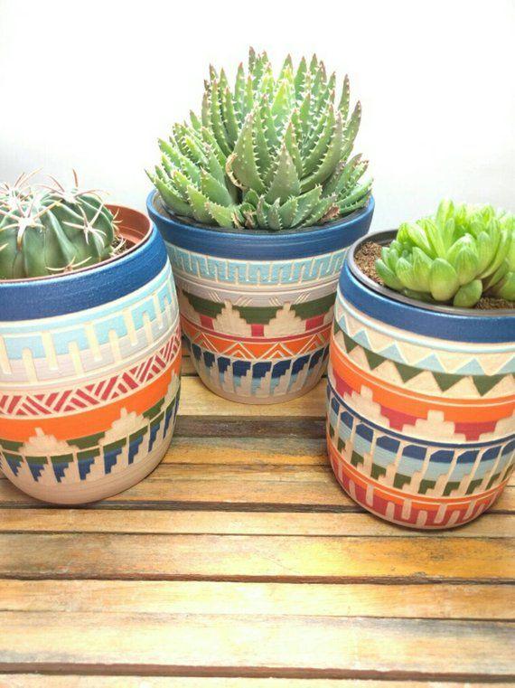 Ceramic Planter Succulent Planter Indoor Planter Pot Geometric Pottery Cactus Planter Bohe Planter Pots Indoor Pottery Plant Pot Succulent Planter