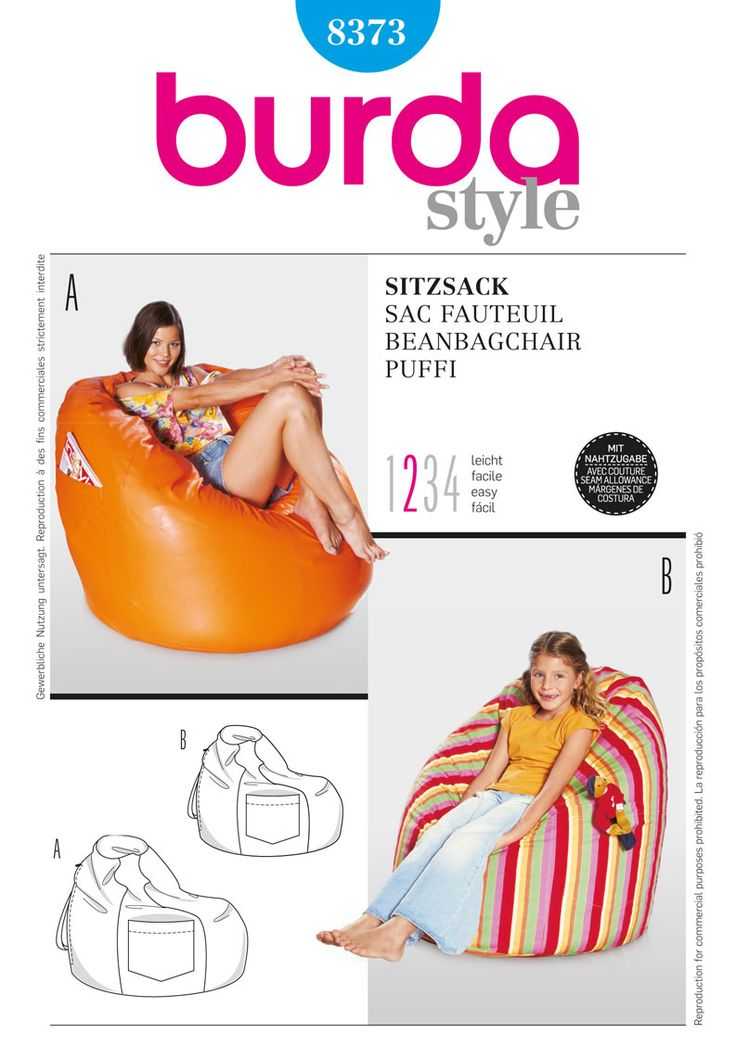 Find A Pattern For Burda Style Beanbag Chair At Simplicity Plus Many More Unique Patterns
