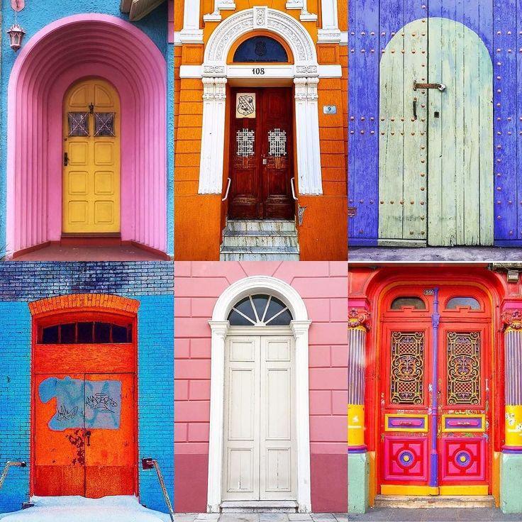 Doors by:  R1C1: @anaclaudianassif R1C2: @jennywisearcade R2C1: @victormanoel R2C2: @_rapha_araujo R3C1: @juaneles R3C2: @msshugaface  Congratulations!  Tag #windowsanddoorsoftheworld to be featured!