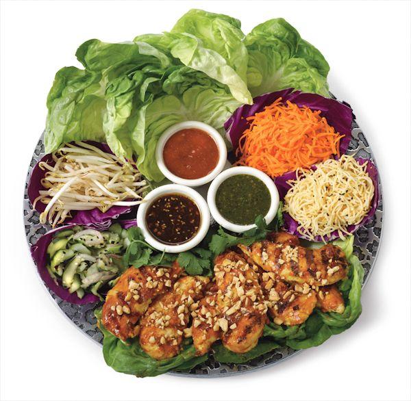 Buffet Display: Easy Chicken Lettuce Wrap Recipe | Top Secret Recipes | Cheesecake Factory Thai Lettuce Wraps Recipe