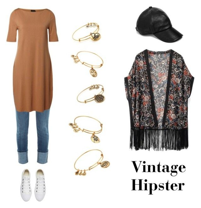 """""""Simple vintage hipster"""" by eloramcc on Polyvore featuring Current/Elliott, SELECTED, Converse, WithChic, Alex and Ani, John Varvatos * U.S.A., modern, vintage and SoChic"""