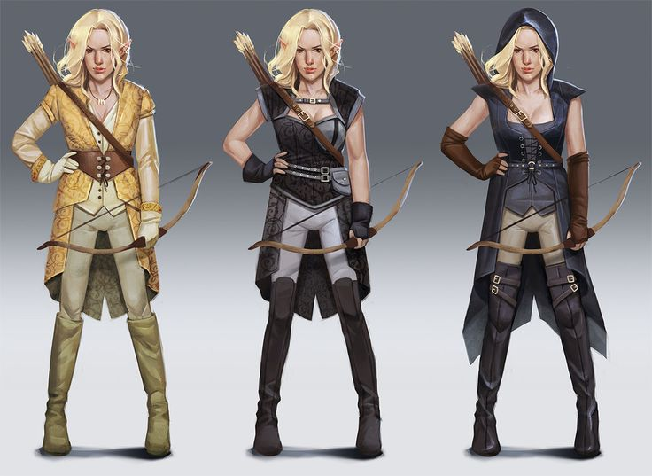 Character And Npc Design : Elf archer concept designs by mannequin atelier armor