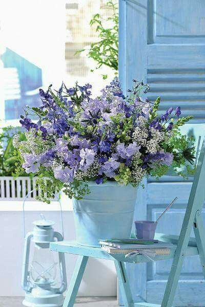 Periwinkle Blue and Lavender