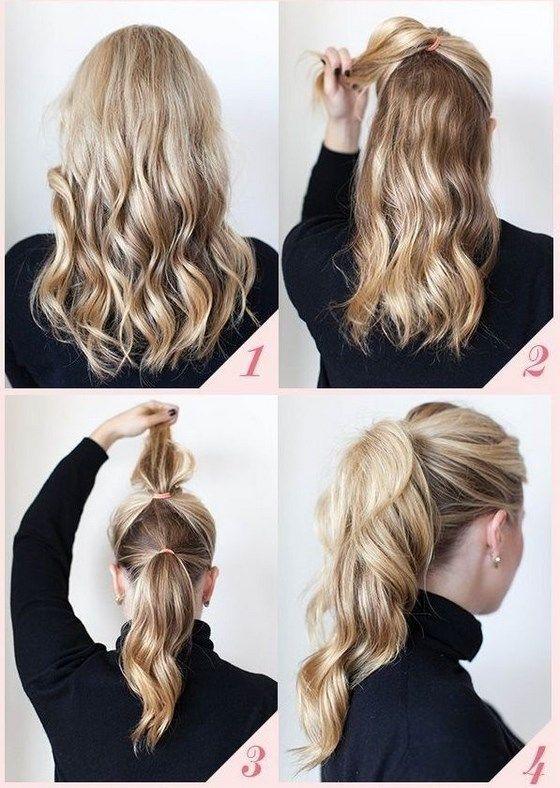 sencillo peinados para fiesta en 4 pasos