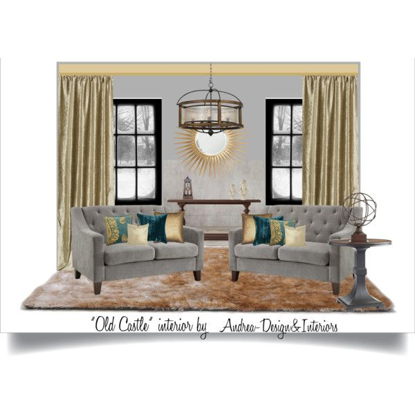 Old castle style by andrea-szakos on Polyvore featuring interior, interiors, interior design, home, home decor, interior decorating, Stanley Furniture, Restoration Hardware, Barclay Butera and Poetic Wanderlust
