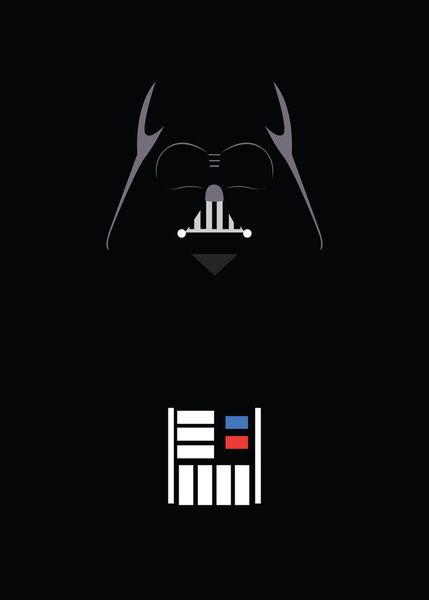 Star Wars - Darth Vader Minimalist Art Print