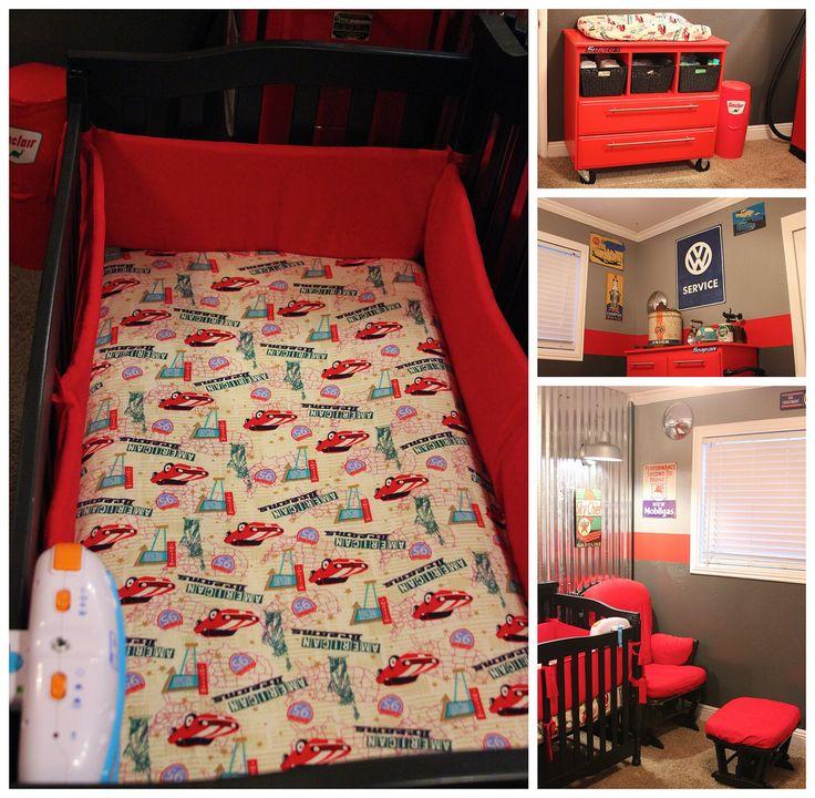 78 best little boys nursery images on pinterest baby for Garage themed bedroom ideas