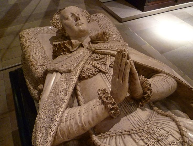 In 1603 Queen Mary's son, now King James I of England, sent Garter King of Arms with a pall decorated with Mary's arms to place on her tomb. A new tomb for her in Westminster Abbey was commissioned in 1606 from Cornelius Cure and, following his death the next year completed by his son William.