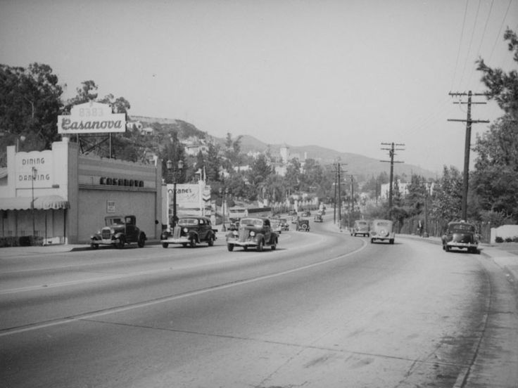 ca 1938 view of sunset boulevard in the city of west