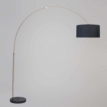Arc Lamp XXL Steel with Shade 50cm Dark Grey