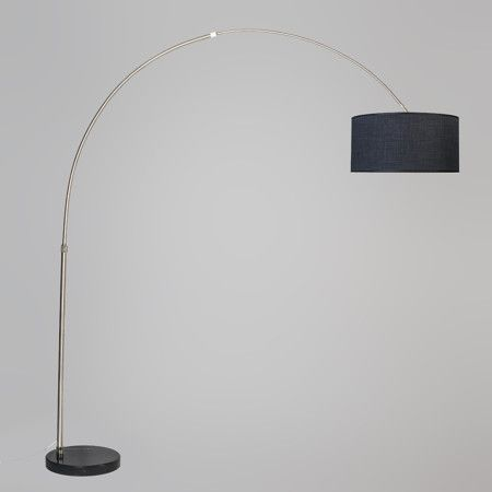Arc Lamp XXL Steel with Shade 50cm Dark Grey