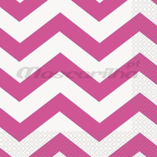 Pack com 16 guardanapos de 33cm. Design Chevron de...