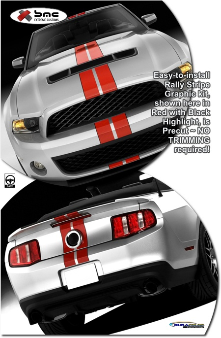 2010-2012 #Ford #Mustang #Shelby #GT500 SVT #Performance Style #Rally #Stripe #Graphic Kit 1 #bmcextremecustoms