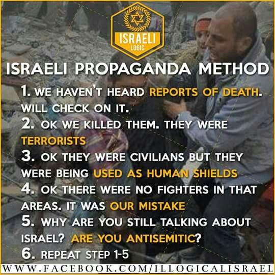 Image result for Israel propaganda method
