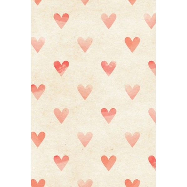 Seamless watercolor heart pattern on paper texture. Valentine's day... ❤ liked on Polyvore featuring backgrounds